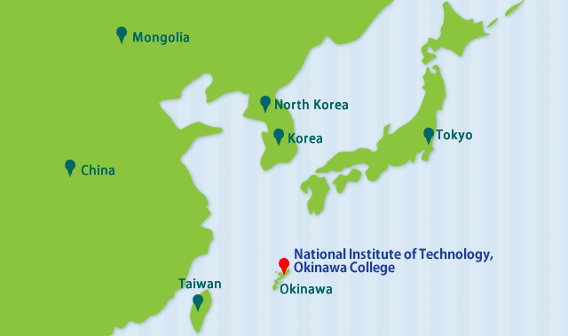 Location Map National Institute Of Technology Okinawa College